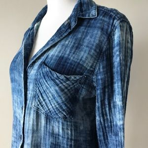 Anthropologie Cloth & Stone Chambray Shirt